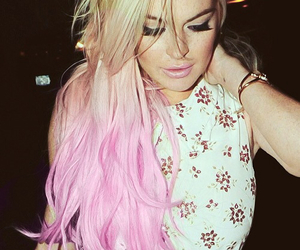 lindsay lohan, hair, and pink image