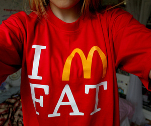 fat, McDonalds, and red image