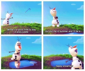 beautiful, olaf, and snowman image