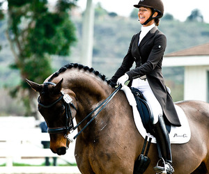 dressage, happy, and horse image