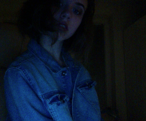 dark, jacket, and jeans image