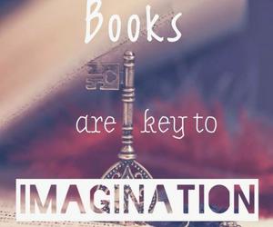 book, imagination, and key image