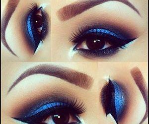blue, fashion, and makeup image