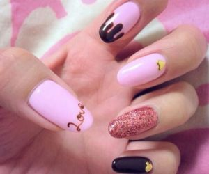 ice cream, nails, and love image