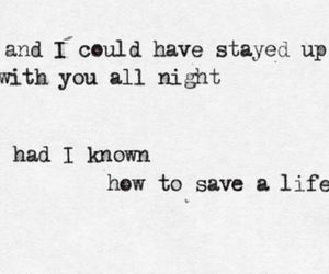 Lyrics, quote, and the fray image