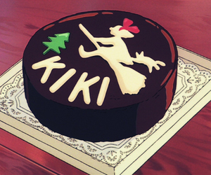 anime, kiki's delivery service, and cake image