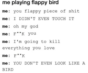 bird, hard, and flappy image