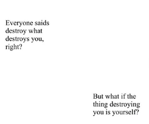 quotes, destroy, and sad image