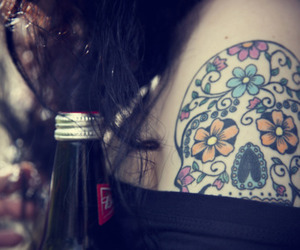 beer, girl, and pretty image