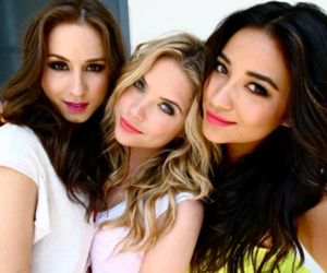 pretty little liars, troian bellisario, and shay mitchell image