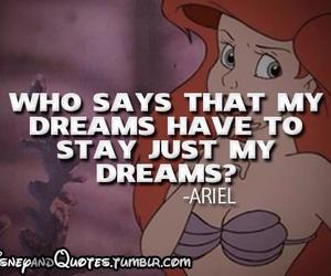 ariel, quote, and disney image