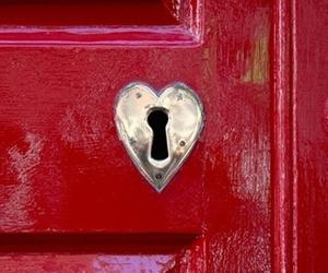 door and heart image