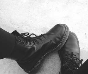 black, boots, and shoes image