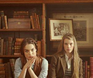girl, fashion, and books image