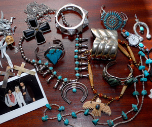 jewelry, rings, and turquoise image