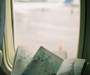 travel, plane, and vintage image