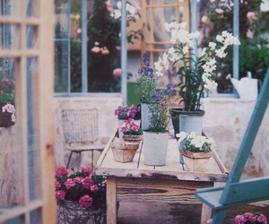 flowers, vintage, and garden image