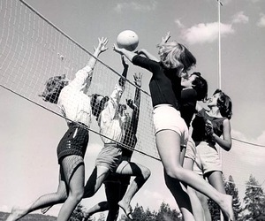 volleyball, sport, and vintage image