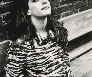 liv tyler, black and white, and beauty image