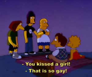 the simpsons, kiss, and simpsons image