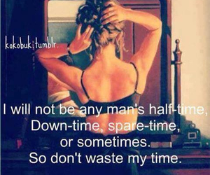 quote, time, and woman image