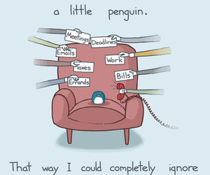 penguin, funny, and ignore image
