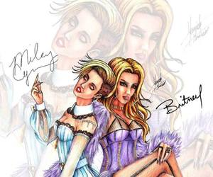 britney and miley cyrus image