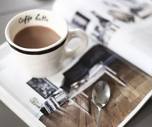 coffee, morning, and magazine image