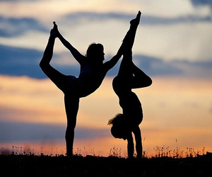 yoga and sunset image