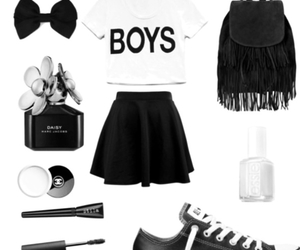 black and white, boys, and skirt image