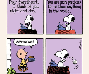 food, funny, and snoopy image