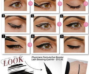 eyeliner, make up, and makeup image