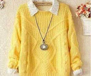yellow, fashion, and sweater image