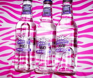 pink, smirnoff, and alcohol image