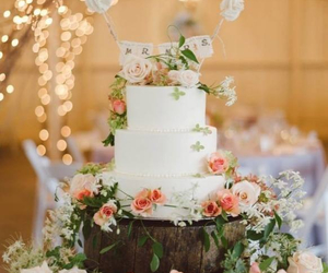 cake, vintage, and wedding image