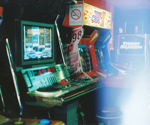 game, arcade, and vintage image
