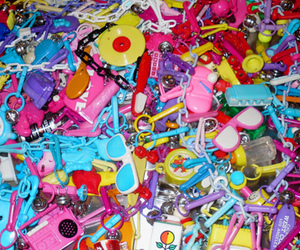 80s, plastic, and charms image
