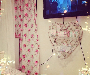 girly, pink, and bedroom image