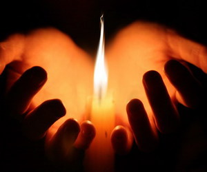 candle, hands, and light image