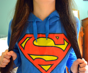 superman, hair, and blue image