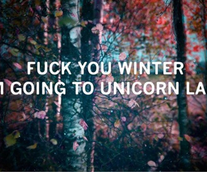 winter, quotes, and unicorn image