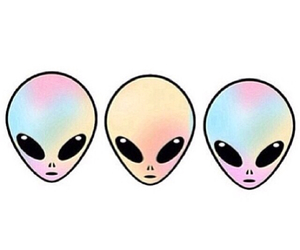 aliens, hipster, and pastel image