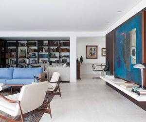 blue, mid century, and interior design image