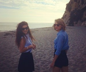 lorde, Taylor Swift, and beach image