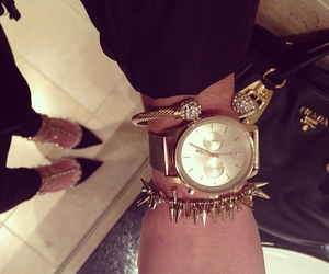gold, watch, and fashion image