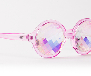 pink, white, and sunglasses image