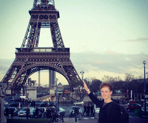 eiffel tower, paris, and youtuber image