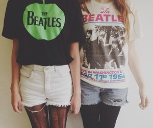beatles, girl, and photography image