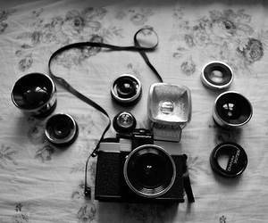 camera, photography, and black and white image