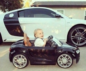 car, baby, and cute image